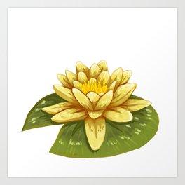 Cute Yellow Lily Pad Art Print