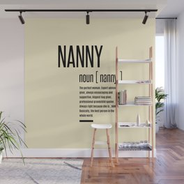 Nanny Definition Grandma Mothers Day Gifts Women  Wall Mural