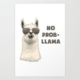 No Problamma Lamma Art Print