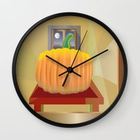pumpkin Wall Clocks featuring Pumpkin by smoothimages