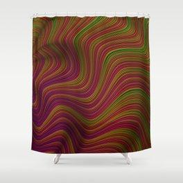Wavy Waves Shower Curtain