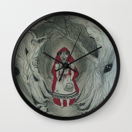 Feral Red Wall Clock