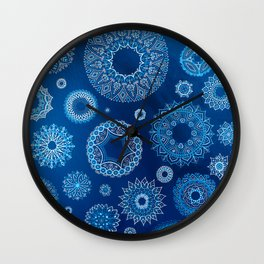 Winter blues Wall Clock