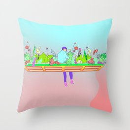 blooming again Throw Pillow