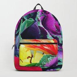 Kale Flowers Backpack