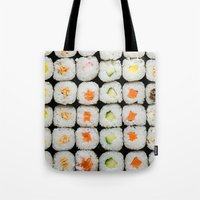 sushi Tote Bags featuring Sushi by Katieb1013