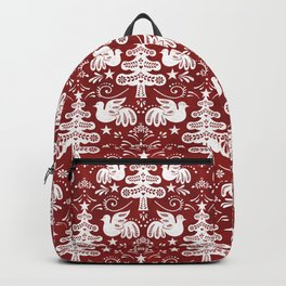 Hygge - Scandinavian Winter (Red) Backpack