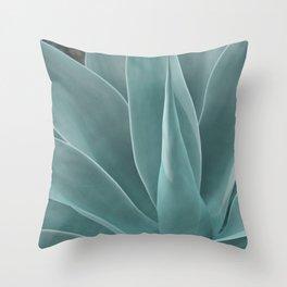 Azul Agave Plant Throw Pillow