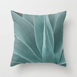 Azul Succulent Agave Plant Throw Pillow