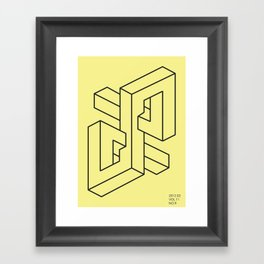 verloren in der unendlichkeit Framed Art Print
