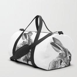 Black and white rabbit Duffle Bag