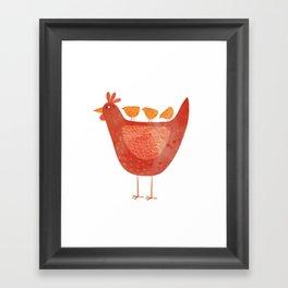 Hen and Chicks Framed Art Print