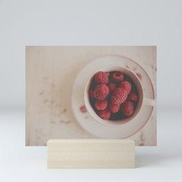 Raspberries Photograph #raspberryprint #foodprint #fooddecor #kitchendecor Mini Art Print