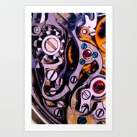 Time Machine In Color Art Print