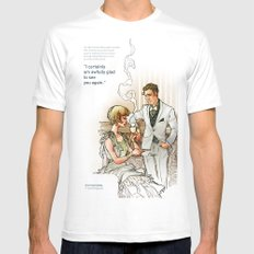 The Great Gatsby_see you again MEDIUM Mens Fitted Tee White