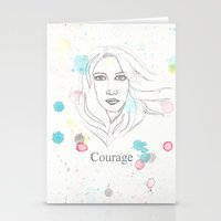 courage Stationery Cards featuring Courage by Tammy Kushnir