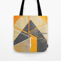 pyramid Tote Bags featuring Pyramid by ErDavid