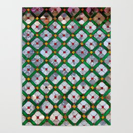 Geometric abstract tiles Poster