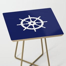 AFE Navy & White Helm Wheel Side Table