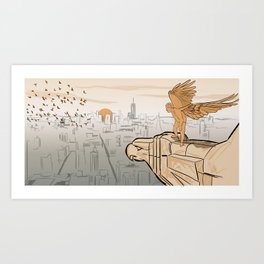 Contemplation — Learning to Fly (NYC) Art Print