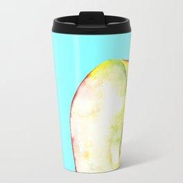 Apple on Aquamarine Travel Mug