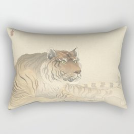 Tiger - Ohara Koson (1900 - 1930) Rectangular Pillow