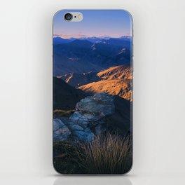 Coronet Peak, Otago, New Zealand iPhone Skin
