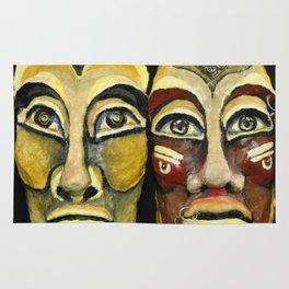 Tribal design portrait Rug
