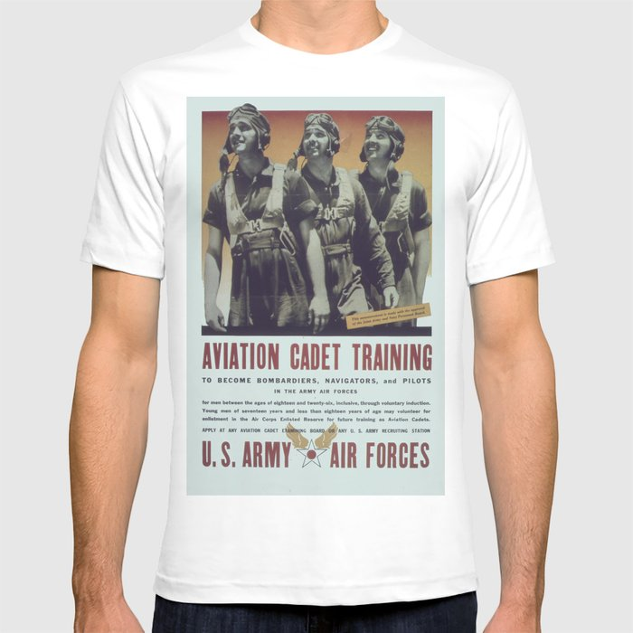 a4c5ccbe79 Vintage Poster Aviation Cadet Training T Shirt By Mosfunky Society6