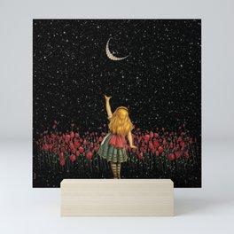 Wonderland Smiling Starry Night - Alice In Wonderland Mini Art Print