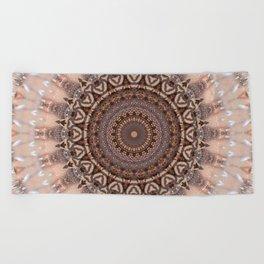 Mandala romantic pink Beach Towel