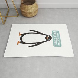 Talking Penguin Rug
