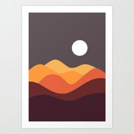 Geometric Landscape 20 Art Print