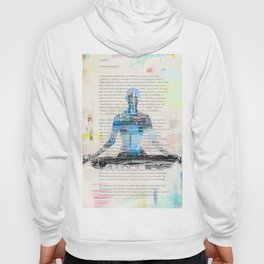 Yoga Book. Lesson 1 Concentration - painting - art print  Hoody