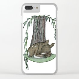 Naptime Under the Willow Clear iPhone Case