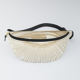I See You. Vintage Gold Antique Paper Fanny Pack