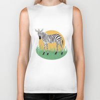 zebra Biker Tanks featuring Zebra by Nir P