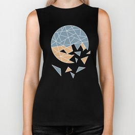 DISASTER (abstract geometric) Biker Tank