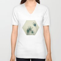 cassia beck V-neck T-shirts featuring All Eyes Are on You by Cassia Beck