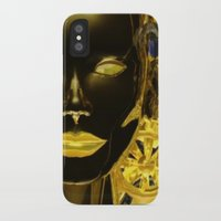 android iPhone & iPod Cases featuring Android Clockwork by Magmata