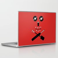 shaun of the dead Laptop & iPad Skins featuring Shaun of the Dead - Skull by Nick Kemp