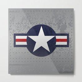 U.S. Military Aviation Star National Roundel Insignia Metal Print