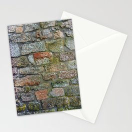 Old granite wall with colorful patterns Stationery Cards