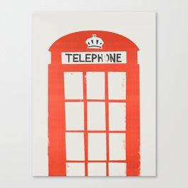 Red London Telephone Box Canvas Print