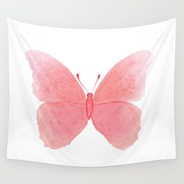 Watermelon pink butterfly Wall Tapestry