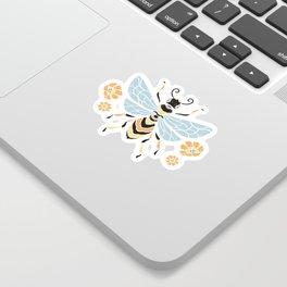 Honey Bee Abstract Pattern Sticker