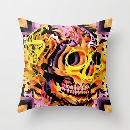 Skull V Throw Pillow