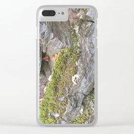 Moss G ranite Clear iPhone Case