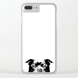 Staffordshire Bull Terrier Dog Clear iPhone Case