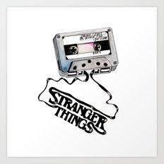 Stranger Things Cassette Tape Art Print